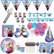 8 kişilik Lüks Elsa Parti Konsepti Malzemeleri Paketi, Frozen