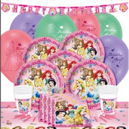 8 Kişilik Prenses Teması Parti Malzemeleri Konsept Ürünleri Seti