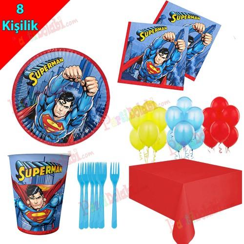 8 Kişilik Superman Temalı Doğum Günü Seti, Süpermen Konsepti
