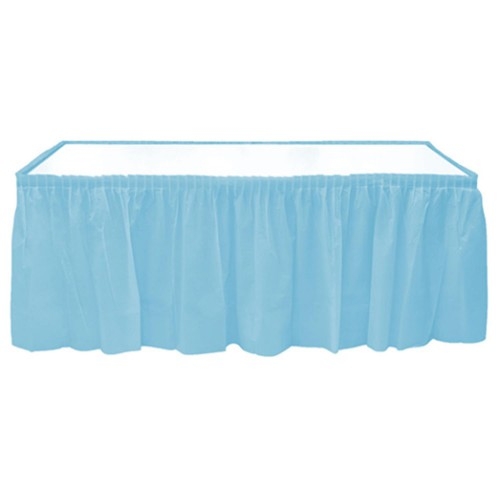Açık Mavi Table Skirt Masa Eteği 74 x 4.26 Doğum Günü Parti Ucuz