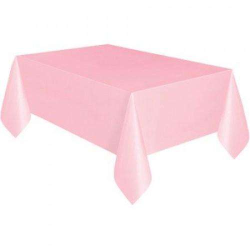 Açık-Şeker Pembe Kullan At Plastik Masa Örtüsü, 120x180 cm Naylon
