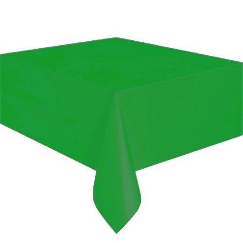 Açık Yeşil Plastik Masa Örtüsü, Doğum Günü Partisi 120x180 Naylon