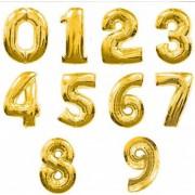 Gold Renkli Rakam Folyo Büyük Balon Doğum Günü Helyumla Uçan