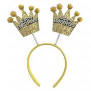 Altın Sarısı Gold Simli Happy Birthday, Doğum Günü Parti Taç