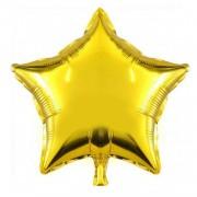 Altın Sarısı (Gold) Yıldız Folyo Balon 45cm Helyumla Uçan