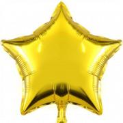 Altın Sarısı (Gold) Yıldız Folyo Balon 60cm Doğum Günü Parti Helyumla Uçan.