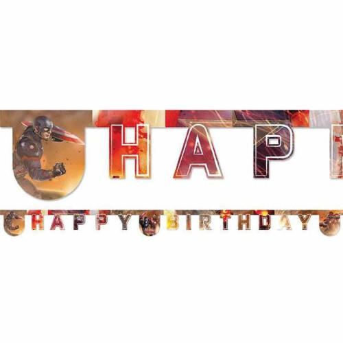 Avengers Happy Birthday Yazı, Yenilmezler Doğum Günü Parti Süsü