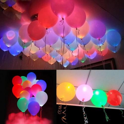 10 Karışık Işıklı Balon+10 Led Balon Işığı (Dilek Feneri Değil)