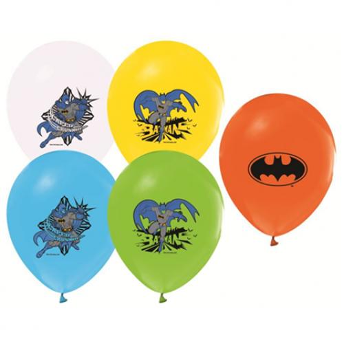Batman 12li Balon Doğum Günü Karışık Renkli Balon, Helyumla Uçan