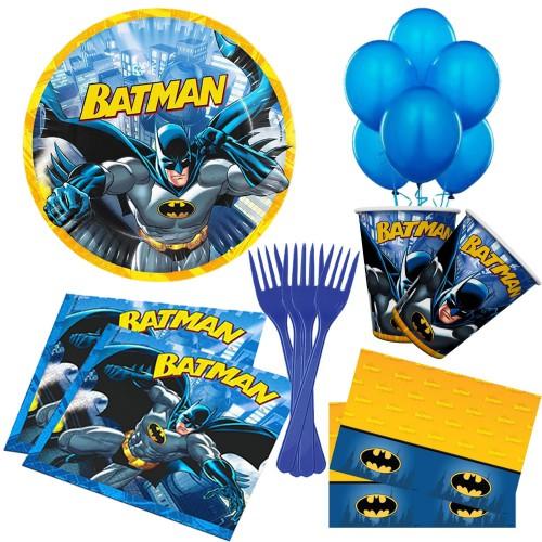 Batman 16 Kişilik Doğum Günü Parti Seti malzemeleri paketi