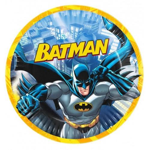 Batman 8li Tabak Doğum Günü Partisi Ucuz 23cm
