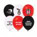 Beşiktaş 8 Kişilik 7 Parça Doğum Günü Set Mini siyah beyaz
