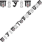 1 Adet Beşiktaş İyi ki Doğdun Doğum Günü Yazısı Bjk Kara Kartal siyah beyaz 2.2mt