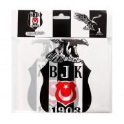 Beşiktaş Masa Örtüsü Doğum Günü Parti Örtü 120x180cm Ucuz Siyah Beyaz
