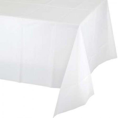 Beyaz Kullan At Plastik Masa Örtüsü, Doğum Günü Partisi 120x180cm
