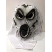 Beyaz Pelerinli Hayalet Maske Şaka Malzemesi, Korku Maskesi