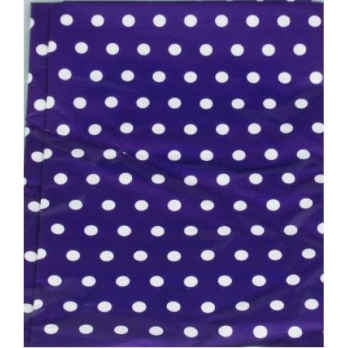 Beyaz Puantiyeli Mor Masa Örtüsü, 120x180 cm Benekli Doğum Günü