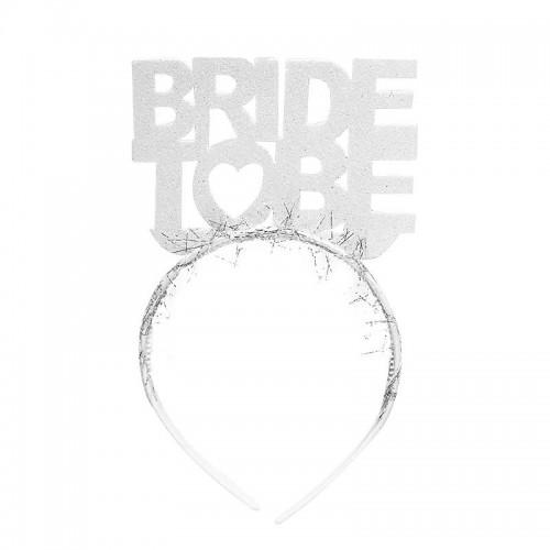 Beyaz Simli Bride To Be Yazılı Taç, Bekarlığa Veda Partisi Tacı