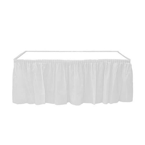 Beyaz Table Skirt Masa Eteği 74 x 4.26 cm Doğum Günü Parti Ucuz