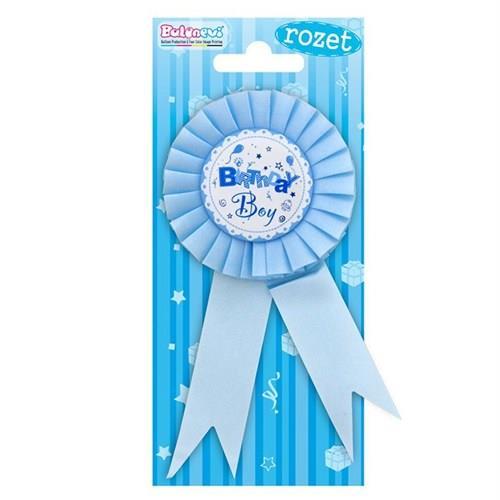 1 Adet Birthday Boy Rozet Mavi Erkek Doğum Odası