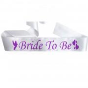 Bride To Be Kuşak, Beyaz Bekarlığa Veda Gelin Kuşağı Çapraz Bant