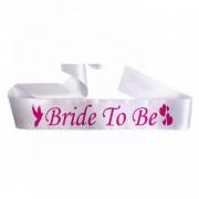 Bride To Be Kuşak, Beyaz Pembe Bekarlığa Veda Gelin Kuşağı Bant