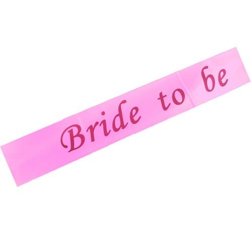 Bride To Be Kuşak, Toz Pembe Bekarlığa Veda Gelin Kuşağı Çapraz