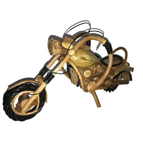 Büyük Boy Ahşap Motor Antika Motosiklet Nostaljik Hediyelik Maket