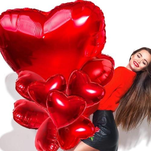 Büyük Kırmızı Kalp Balon 14 Şubat Sevgililer Günü Aşk Balonları
