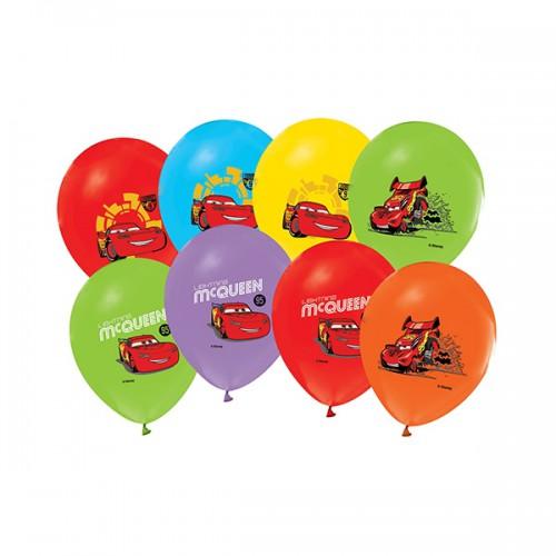Cars 12li Balon Mcqueen Doğum Günü Parti Balonu, Helyumla Uçan