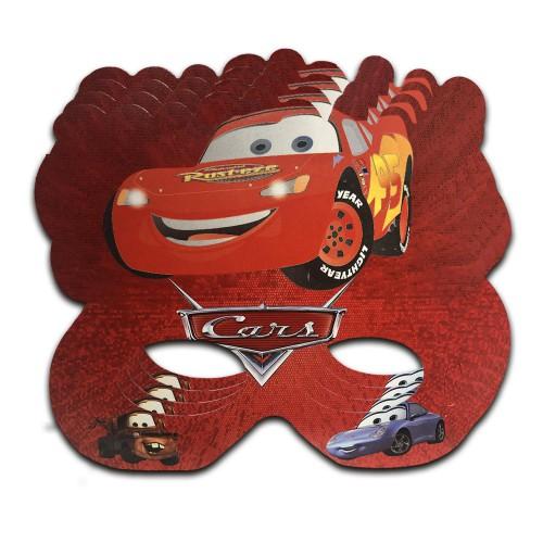 6 Adet Cars (Arabalar) Maske Parti Konsept Gözlük