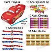 Cars Arabalar İçi Dolu Pinyata, Şimşek McQueen Şeker Çikolata vb