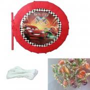 Cars Arabalar McQueen İçi 350 Şeker Dolu Pinyata + Sopası + İpi