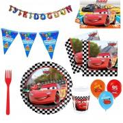 Cars, Arabalar, Şimşek Mcqueen 8 Kişilik 11 Parça Doğum Günü Set Mini