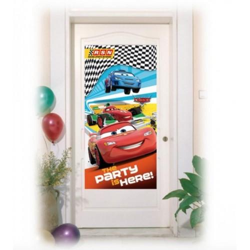 Cars Kapı Afişi Doğum Günü Parti Afişi 76x152