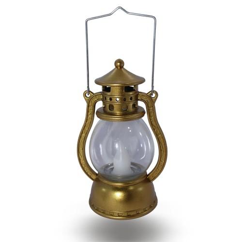 Gold Altın Sarısı Hediyelik Küçük Gaz Lambası Ledli Işıklı Dekor