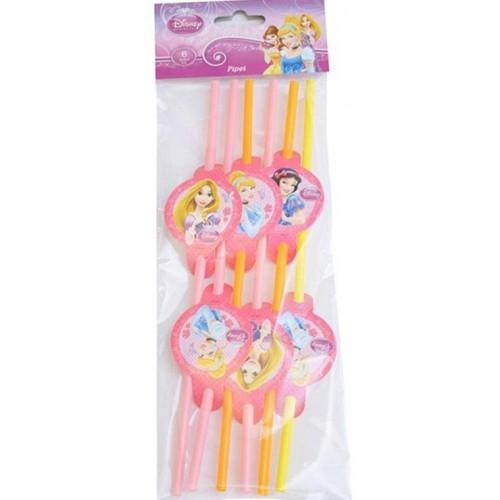 Disney Prenses 6lı Doğum Günü Parti Pipeti Konsept Parti Ucuz