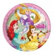 Disney Prensesler 8'li Tabak 23cm Doğum Günü Parti Tabağı