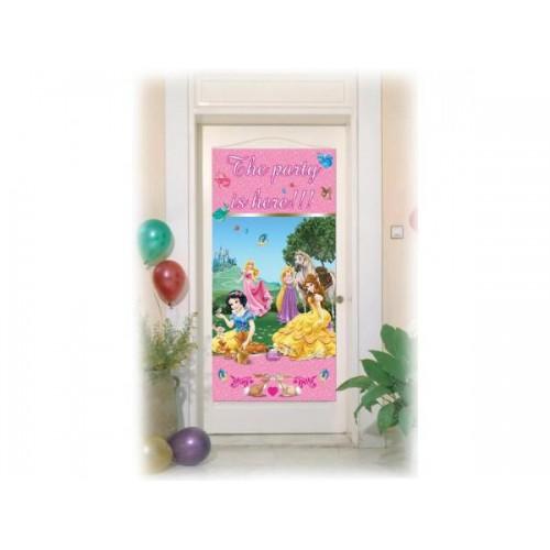 Disney Prensesler Parti Afişi 76cm x 152cm Doğum Günü Parti Afişl