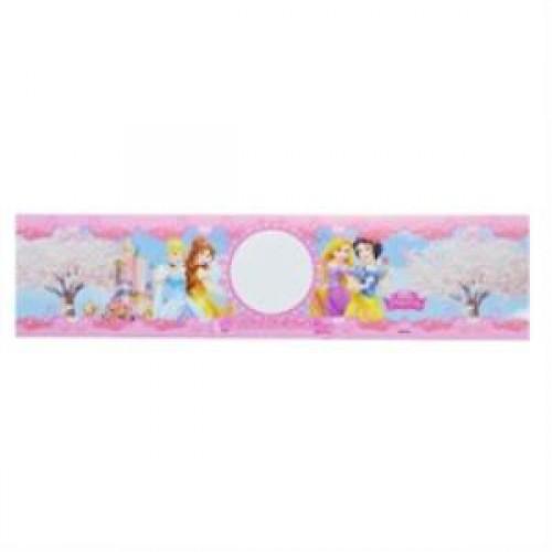 20 Adet Disney Prensesler Su Şişesi etiketi pembe bant