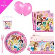 Disney Prensesleri, prenses 16 Kişilik 8 Parça Doğum Günü Seti malzemeleri