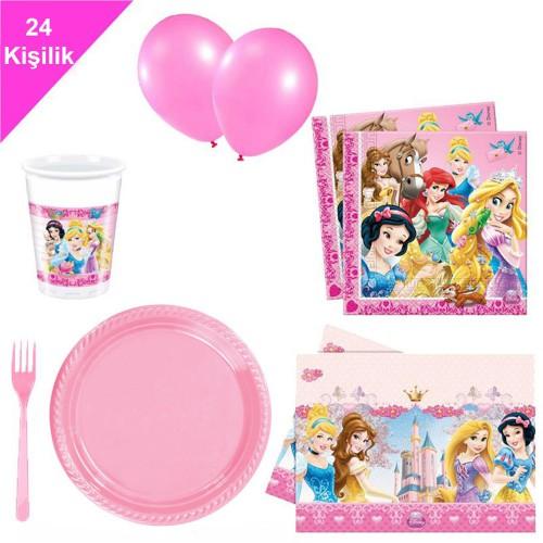 Disney Prensesleri, prenses 24 Kişilik 12 Parça Doğum Günü Seti