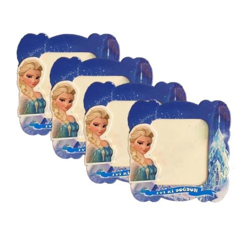 Elsa 25li Magnet Frozen Karlar Ülkesi Doğum Günü Parti Çerçevesi