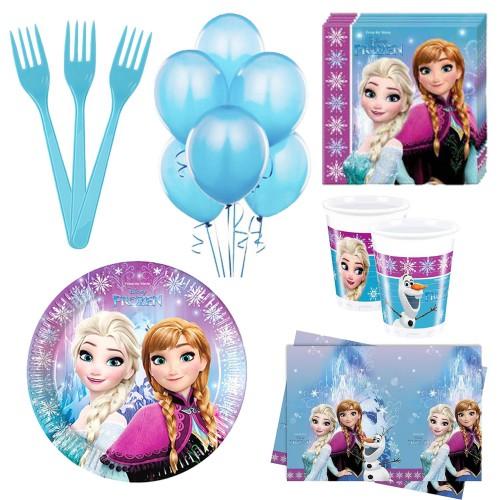 Elsa, Karlar ülkesi 24 Kişilik Doğum Günü Seti malzemeleri Parti Paketi