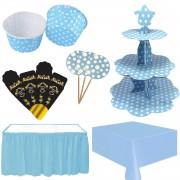 Erkek Bebek 40 Mevlidi Masası Mavi Mevlüt Süsleme Konsepti