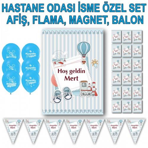 Hastane Odası Süsleri, Afiş Flama Magnet Balon Bebek Odası Süsü