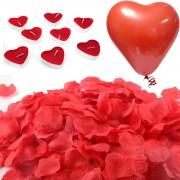 Evlilik Teklifi 1000 Gül Yaprakları 20 Kalp Mum ve 20 Balon