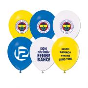 12 li Fenerbahçe Balonu Helyumla Uçan Sarı Lacivert