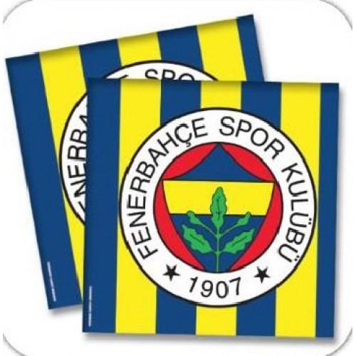 Fenerbahçe 16lı Peçete Doğum Günü Parti Peçetesi 33x33cm Ucuz Sarı Lacivert