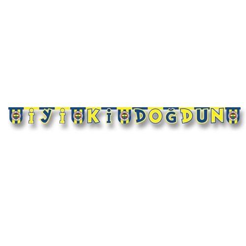 Fenerbahçe İyi Ki Doğdun Yazı 2.2mt Doğum Günü Parti Yazısı Ucuz Sarı Lacivert